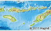 Physical Map of East Nusa Tenggara