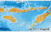 Political Shades Map of East Nusa Tenggara