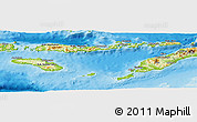 Physical Panoramic Map of East Nusa Tenggara