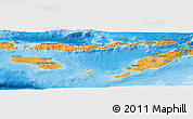 Political Shades Panoramic Map of East Nusa Tenggara