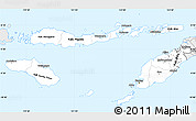 Silver Style Simple Map of East Nusa Tenggara