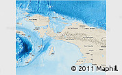 Shaded Relief 3D Map of Irian Jaya