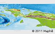 Physical Panoramic Map of Irian Jaya