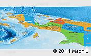 Political Panoramic Map of Irian Jaya