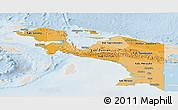 Political Shades Panoramic Map of Irian Jaya, lighten