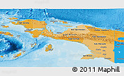 Political Shades Panoramic Map of Irian Jaya