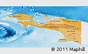 Political Shades Panoramic Map of Irian Jaya, single color outside
