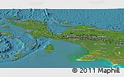 Satellite Panoramic Map of Irian Jaya