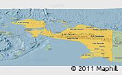 Savanna Style Panoramic Map of Irian Jaya