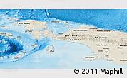 Shaded Relief Panoramic Map of Irian Jaya