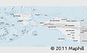 Silver Style Panoramic Map of Irian Jaya
