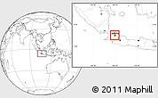 Blank Location Map of Kodya. Jakarta Utara