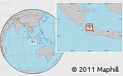 Gray Location Map of Kodya. Jakarta Utara
