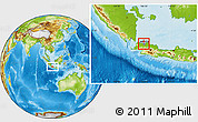 Physical Location Map of Kodya. Jakarta Utara