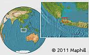 Satellite Location Map of Kodya. Jakarta Utara