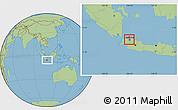 Savanna Style Location Map of Kodya. Jakarta Utara