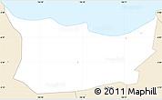 Classic Style Simple Map of Kodya. Jakarta Utara
