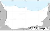 Gray Simple Map of Kodya. Jakarta Utara