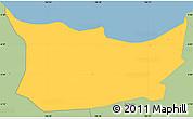 Savanna Style Simple Map of Kodya. Jakarta Utara