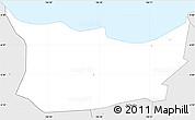 Silver Style Simple Map of Kodya. Jakarta Utara