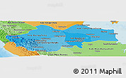 Political Shades Panoramic Map of Jambi