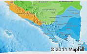 Political Shades 3D Map of Lampung