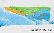Political Shades Panoramic Map of Lampung