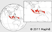Blank Location Map of Indonesia