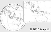 Gray Location Map of Indonesia, blank outside