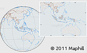 Gray Location Map of Indonesia, lighten, semi-desaturated
