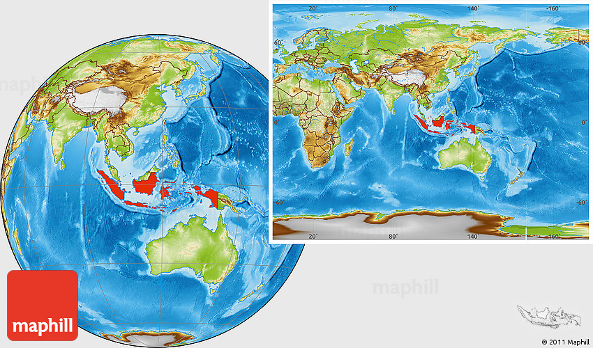 Physical location map of indonesia within the entire continent publicscrutiny Choice Image