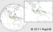 Savanna Style Location Map of Indonesia, blank outside
