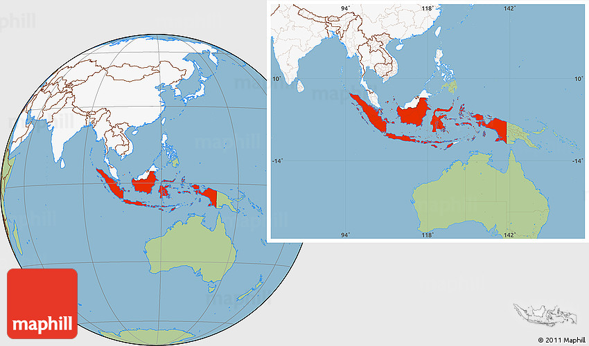 Savanna style location map of indonesia highlighted continent 2d gumiabroncs Images