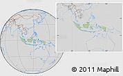 Savanna Style Location Map of Indonesia, lighten, desaturated