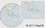 Savanna Style Location Map of Indonesia, lighten, semi-desaturated