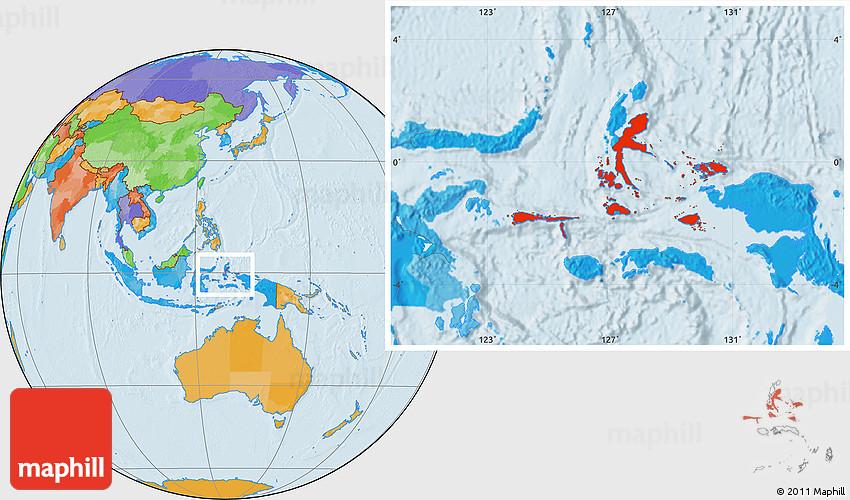 Political Location Map Of Kab Halmahera Tengah