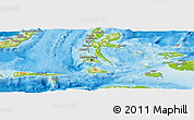 Physical Panoramic Map of Kab. Halmahera Tengah