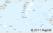 Silver Style Simple Map of Kab. Halmahera Tengah