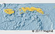 Savanna Style 3D Map of Kab. Maluku Tengah