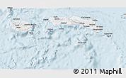 Silver Style 3D Map of Kab. Maluku Tengah