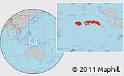 Gray Location Map of Kab. Maluku Tengah