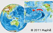 Physical Location Map of Kab. Maluku Tengah