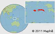 Savanna Style Location Map of Kab. Maluku Tengah