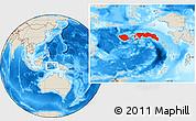 Shaded Relief Location Map of Kab. Maluku Tengah