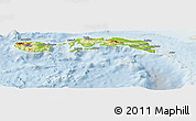 Physical Panoramic Map of Kab. Maluku Tengah, lighten
