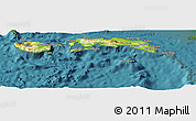 Physical Panoramic Map of Kab. Maluku Tengah, satellite outside