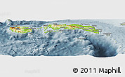 Physical Panoramic Map of Kab. Maluku Tengah, semi-desaturated