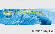 Physical Panoramic Map of Kab. Maluku Tengah, single color outside