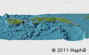 Satellite Panoramic Map of Kab. Maluku Tengah