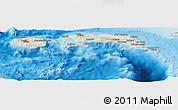 Shaded Relief Panoramic Map of Kab. Maluku Tengah